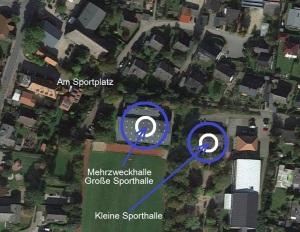 Sporthallen Karte Kisdorf