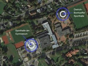 Sporthallen Karte